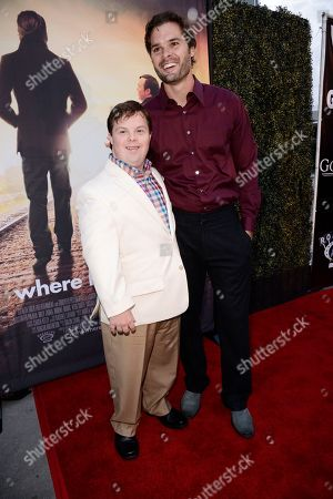 David DeSanctis and Writer/Director Chris Dowling seen at Los Angeles Premiere of Roadside Attractions/Godspeed Pictures 'Where Hope Grows' at Arclight Cinemas Hollywood, in Los Angeles, CA
