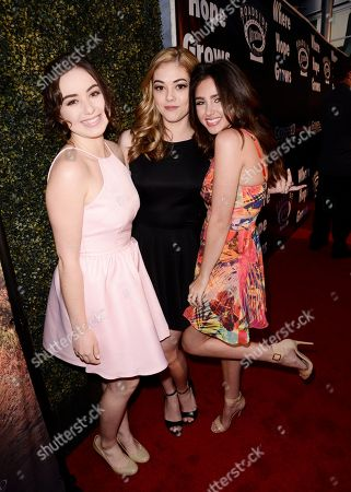 Sarah Gilman, McKaley Miller and Ryan Newman seen at Los Angeles Premiere of Roadside Attractions/Godspeed Pictures 'Where Hope Grows' at Arclight Cinemas Hollywood, in Los Angeles, CA