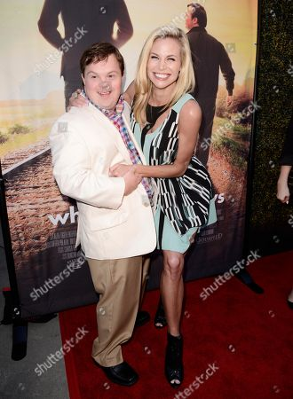 David DeSanctis and Brooke Burns seen at Los Angeles Premiere of Roadside Attractions/Godspeed Pictures 'Where Hope Grows' at Arclight Cinemas Hollywood, in Los Angeles, CA