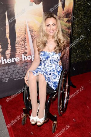 Tiphany Adams seen at Los Angeles Premiere of Roadside Attractions/Godspeed Pictures 'Where Hope Grows' at Arclight Cinemas Hollywood, in Los Angeles, CA
