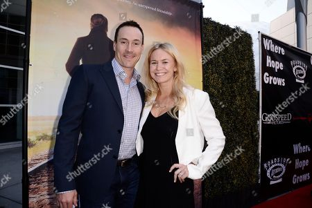 Chris Klein and Laina Rose Thyfault seen at Los Angeles Premiere of Roadside Attractions/Godspeed Pictures 'Where Hope Grows' at Arclight Cinemas Hollywood, in Los Angeles, CA
