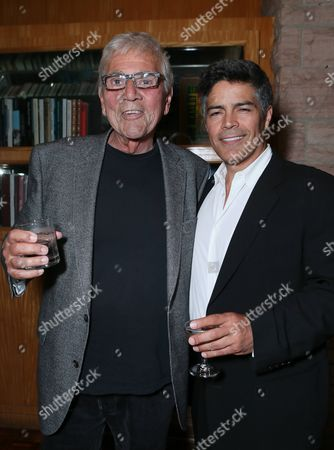 """Stock Photo of Alex Rocco and Esai Morales at the """"Magic City"""" season 2 premiere after party, in Los Angeles"""