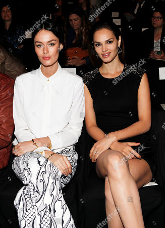 Nicole Trunfio and Lisalla Montenegro attend the Carolina Herrera collection, during Mercedes-Benz Fashion Week in New York