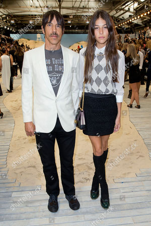 Anthony Kiedis and Helena Vestergaard attends the Tommy Hilfiger collection, during Mercedes-Benz Fashion Week in New York