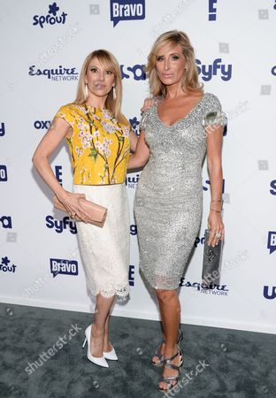 "Ramona Singer, left, and Kim Richards from the show ""The Real Housewives of Beverly Hills"" attend the NBCUniversal Cable Entertainment 2014 Upfront at the Javits Center, in New York"