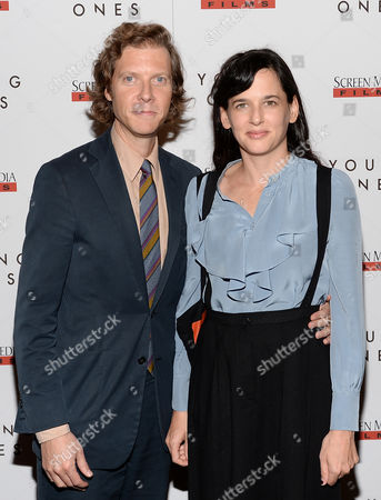 """Director Jake Paltrow and wife Taryn Simon attend the """"Young Ones"""" premiere at the Landmark Sunshine, in New York"""