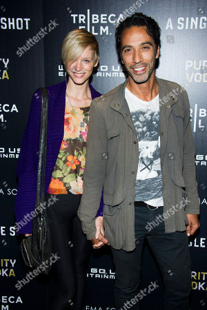 "Bettina Holt and Carlos Leon attend a screening of ""A Single Shot"" hosted by the Cinema Society and Tribeca Films on in New York"