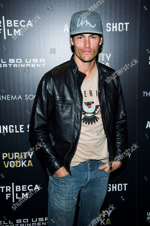 """Tyson Ballou attends a screening of """"A Single Shot"""" hosted by the Cinema Society and Tribeca Films on in New York"""