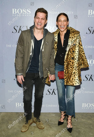 """Singer Rob Thomas and wife Marisol Maldonado attend a special screening of """"Sky"""", hosted by The Cinema Society and Hugo Boss, at Metrograph, in New York"""