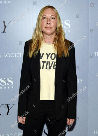 """French director Fabienne Berthaud attends a special screening of """"Sky"""", hosted by The Cinema Society and Hugo Boss, at Metrograph, in New York"""