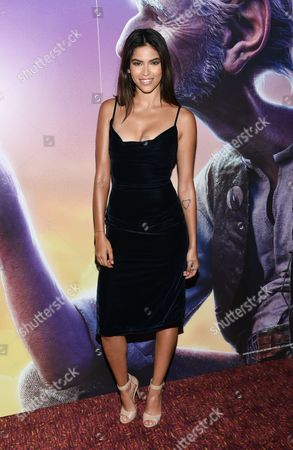 """Model Juliana Herz attends a special screening of Disney's """"The BFG"""", hosted by The Cinema Society, at Village East Cinema, in New York"""