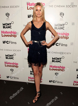 "Fashion model Elena Foley attends a screening of ""Hateship Loveship"" hosted by The Cinema Society and Montblanc, in New York"