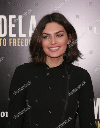 """Fashion model Alyssa Miller attends a screening of """"Mandela: Long Walk To Freedom"""" hosted by U2 and Anna Wintour on Monday, Nov., 25, 2013 in New York"""