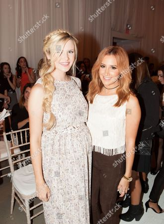 Stock Image of Amber Fillerup and Ashley Tisdale attend the New York Fashion Week Spring/Summer 2016 LC Lauren Conrad fashion show at Skylight Modern, in New York