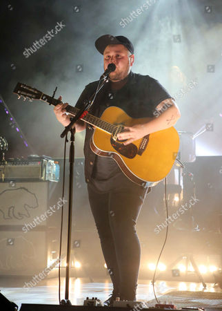Ragnar Thorhallsson with Of Monsters and Men performs at Chastain Park Amphitheater, in Atlanta