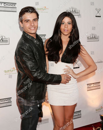 Stock Photo of Same Stone and Jennifer Tapiero attend the One Warm Night web series premiere, in Los Angeles