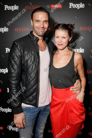 """Joseph Millson, left, and Sarah-Jane Potts arrive at the PEOPLE """"Ones to Watch"""" Party at The Line Hotel, in Los Angeles"""