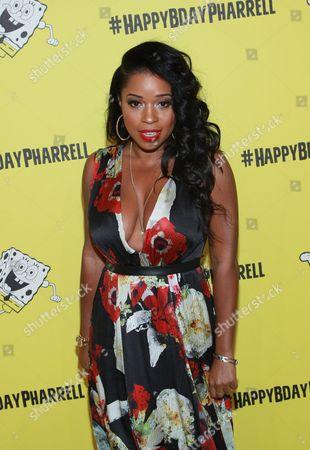 Mashonda attends Pharrell Williams' SpongeBob-themed 41st birthday party at Cipriani Wall Street on in New York
