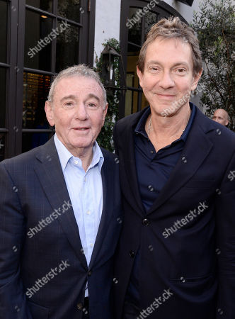 Howard Weitzman, left, and John Branca attend the Power Lawyers Breakfast for The Hollywood Reporter at Spago, in Beverly Hills, Calif