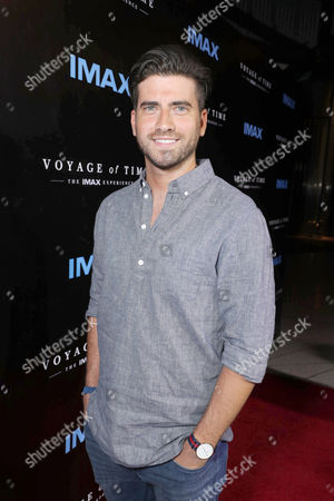"Ryan Rottman seen at Los Angeles Premiere of ""Voyage of Time: The IMAX Experience"" at California Science Center IMAX Theatre, in Los Angeles"