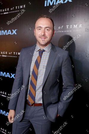 """Stock Photo of Producer Nicolas Gonda seen at Los Angeles Premiere of """"Voyage of Time: The IMAX Experience"""" at California Science Center IMAX Theatre, in Los Angeles"""