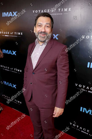 """Producer Sophokles Tasioulis seen at Los Angeles Premiere of """"Voyage of Time: The IMAX Experience"""" at California Science Center IMAX Theatre, in Los Angeles"""