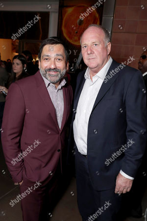 """Producer Sophokles Tasioulis and Producer Grant Hill seen at Los Angeles Premiere of """"Voyage of Time: The IMAX Experience"""" at California Science Center IMAX Theatre, in Los Angeles"""