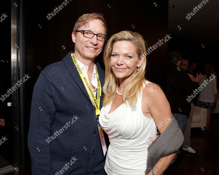 Stock Image of Jim Burke and actress/photographer Christina Simpkins attend the Produced By Conference meeting and pre-party on in Culver City, Calif