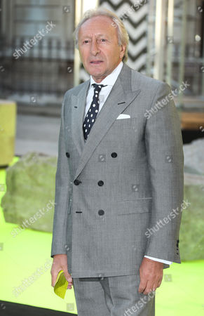 Stock Image of Harold Tilman arrives for the Royal Academy of Art: Summer Exhibition Preview Party at Burlington House, central London