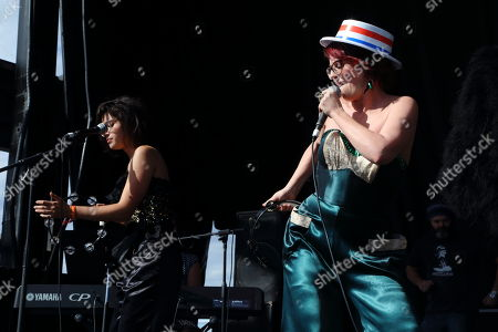 Stephanie Hunt and Megan Mullally perform as Nancy & Beth at The Sasquatch! Music Festival on in George, Washington