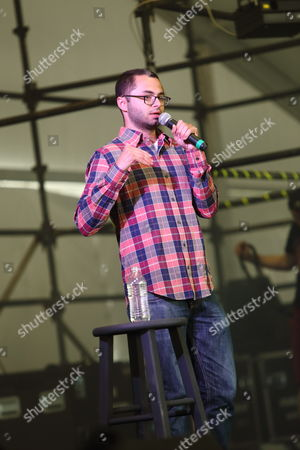 Stock Image of Joe Mande performs at The Sasquatch! Music Festival on in George, Washington