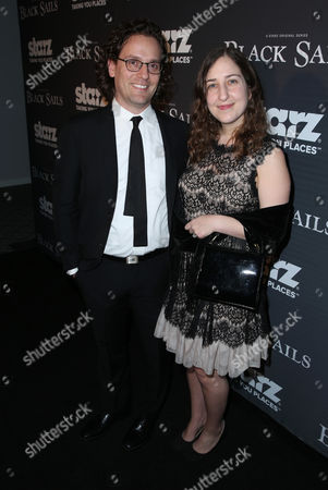 """Co-creator Robert Levine, left, and Tom Davidson arrive at the Starz """"Black Sails"""" Premiere on in Los Angeles"""