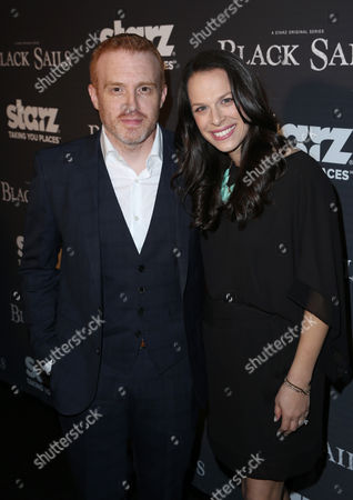"""Creator Jonathan E. Steinberg and guest arrive at the Starz """"Black Sails"""" Premiere on in Los Angeles"""