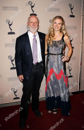 Stock Picture of From left, honoree James Burrows and daughter Paris Burrows arrive at the Academy of Television Arts & Sciences Presents An Evening Honoring James Burrows,, at the Leonard H. Goldenson Theater, in North Hollywood, Calif