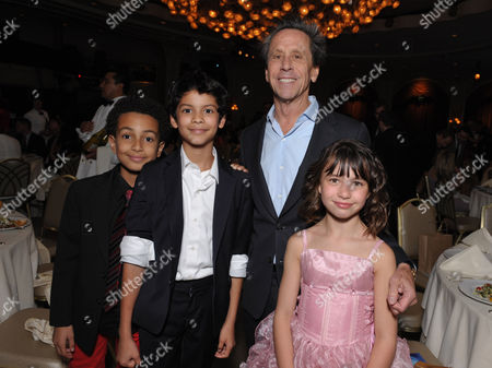 "Stock Picture of Tyree Brown, Xolo Mariduena, Brian Grazer, Savannah Paige Rae, front, attend the VIP reception at the Academy of Television Arts & Sciences Presents ""The 6th Annual Television Honors"" at the Beverly Hills Hotel on in Beverly Hills, Calif"