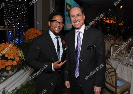 "DL Hughley (left) and Academy COO Alan Perris attend the VIP reception at the Academy of Television Arts & Sciences Presents ""The 6th Annual Television Honors"" at the Beverly Hills Hotel on in Beverly Hills, California"