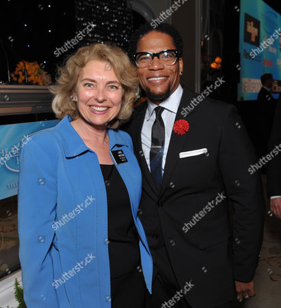 "Academy Vice President of Marketing Laurel Whitcomb, left, and DL Hughley attend the VIP reception at the Academy of Television Arts & Sciences Presents ""The 6th Annual Television Honors"" at the Beverly Hills Hotel on in Beverly Hills, Calif"