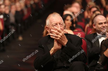 Max von Sydow attends night one of the Television Academy's 2016 Creative Arts Emmy Awards at the Microsoft Theater on in Los Angeles