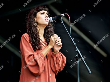 British singer songwriter Charlotte OC (Charlotte Mary O'Connor) performs at The Governors Ball Music Festival at Randall's Island Park on in New York