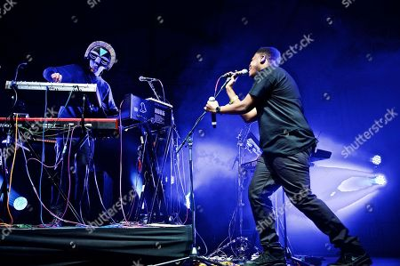 Stock Image of The EDM DJ/producer SBTRKT (Aaron Jerome) performs at The Governors Ball Music Festival at Randall's Island Park on in New York