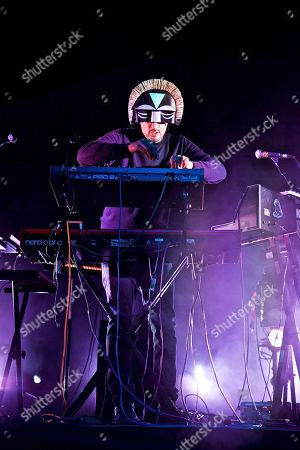 Stock Photo of The EDM DJ/producer SBTRKT (Aaron Jerome) performs at The Governors Ball Music Festival at Randall's Island Park on in New York