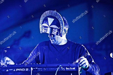 The EDM DJ/producer SBTRKT (Aaron Jerome) performs at The Governors Ball Music Festival at Randall's Island Park on in New York