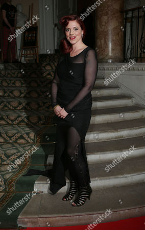 Stock Photo of Alice Palmer arrives at the 8th Annual Scottish Fashion Awards 2013 dinner, celebrating Scotland's fashion talent, at Dover House, in central London, as part of a Scottish fashion invasion of London