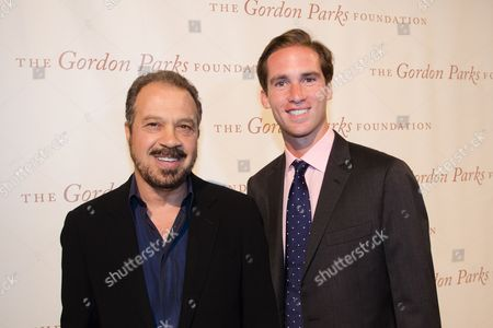 Ed Zwick and Peter W. Kunhardt Jr. arrive at The Gordon Parks Foundation Awards Dinner and Auction at Cipriani's Wall Street, in New York