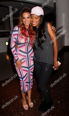 """Sheree Fletcher and KeKe Palmer seen at The Hollywood Confidential Panel Discussion Series - """"Images of African-American Women in Mainstream Media"""" at The Museum of Tolerance on in Los Angeles, California"""