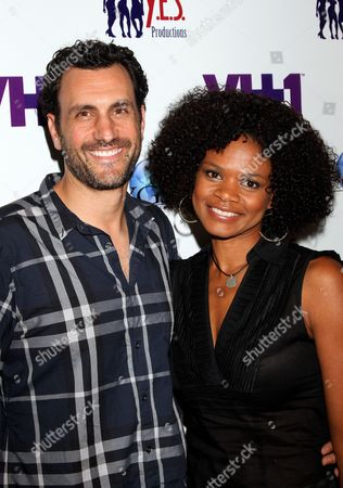 """Writer James LaRosa and actress Kimberly Elise pose at The Hollywood Confidential Panel Discussion Series - """"Images of African-American Women in Mainstream Media"""" at The Museum of Tolerance on in Los Angeles, California"""