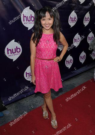 Actress Tania Gunadi attends the Hub Network's TCA at Universal Studios, in Los Angeles