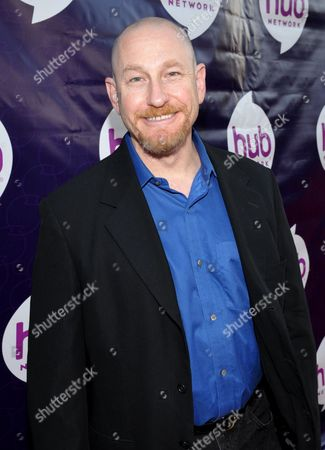 """Andrew Robinson, story editor for """"Kaijudo,"""" attends the Hub Network's TCA at Universal Studios, in Los Angeles"""