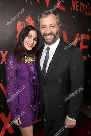 Creators/Writers/Executive Producers Lesley Arfin and Judd Apatow seen at the Los Angeles premiere of the Netflix original series 'Love' at The Vista Theatre, in Los Angeles, CA