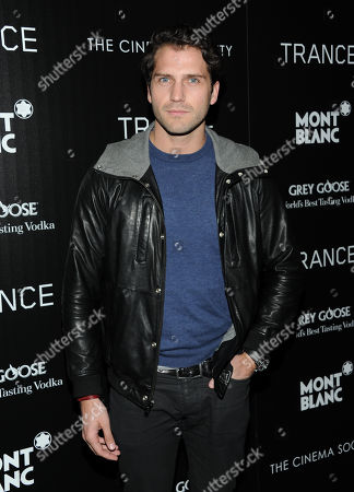 """Stock Image of Actor Jammy Taylor attends Fox Searchlight Pictures' premiere of """"Trance"""", hosted by The Cinema Society with Montblanc, at the SVA Theater on in New York"""